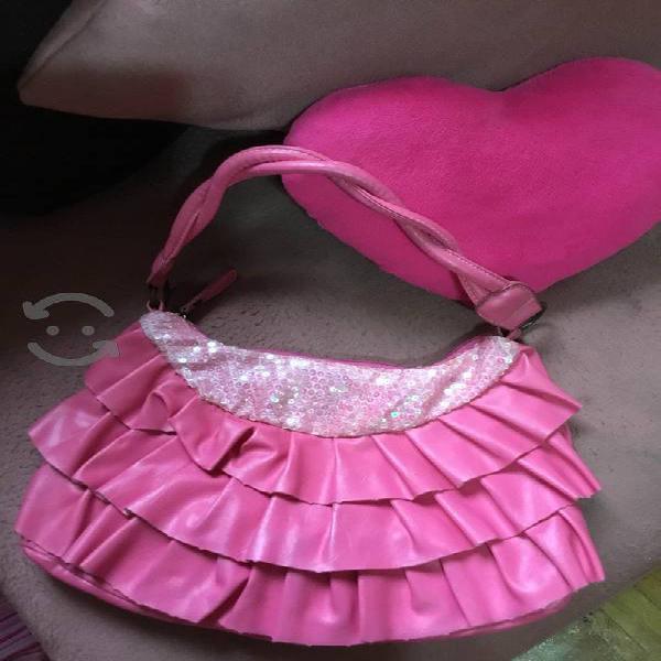Bolsa rosa hermosa