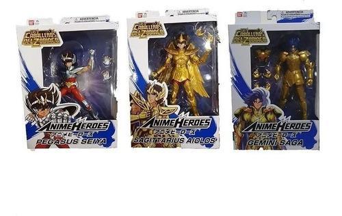 Caballeros del zodiaco saint seiya anime héroes 3 figuras