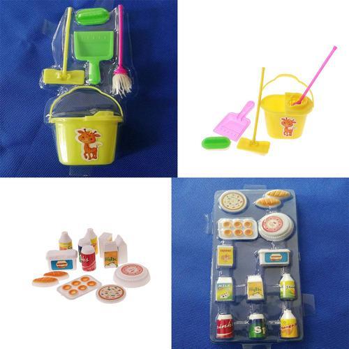 Casa de muñecas, cocina en miniatura, alimentos, artículos