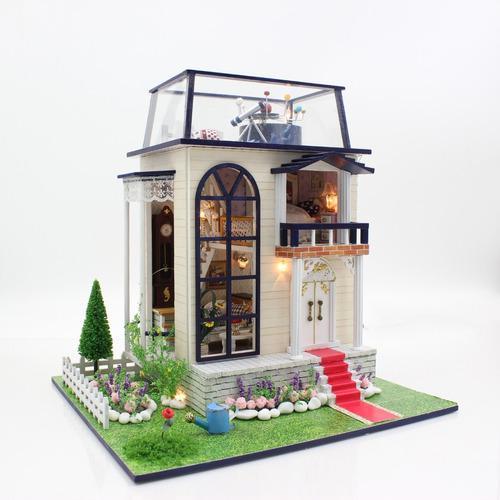 Casa de muñecas miniatura para armar