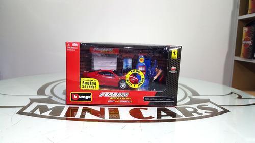 Ferrari 1/43 bburago taller diorama miniatura