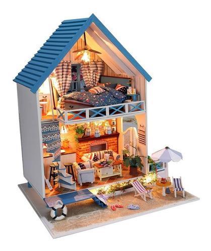 Miniatura casa de muñecas 1:24 diy de coleccion para armar