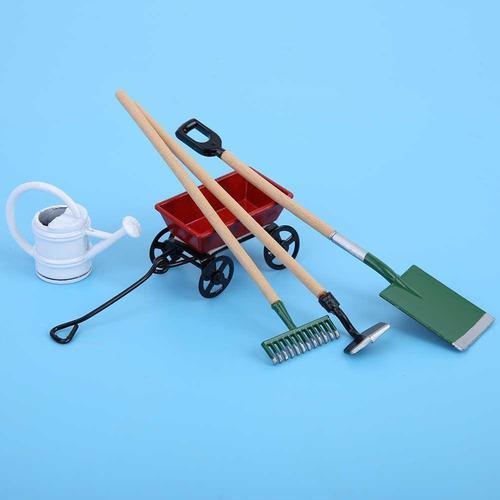 Miniatura casa de muñecas que cultiva herramientas, 1:12 mi