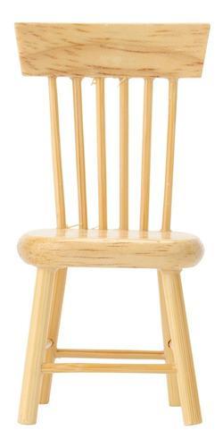 Miniatura de muebles modelo de silla de comedor de madera pa