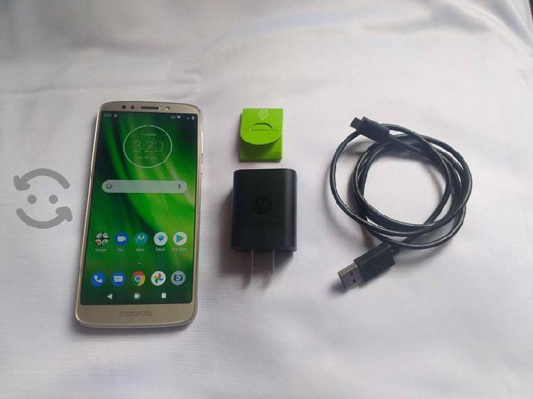 Moto g6 play con caja y accesorios