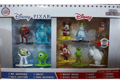 Set disney muñecos metálicos miniatura10 pz