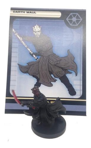 Star wars miniatures darth maul + tarjeta very rare wizards