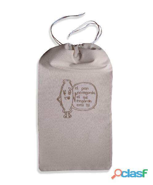 Hermosa bolsa para pan ecológica, reutilizable, lavable. medidas 70cm alto x 30cm ancho