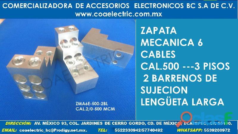 Zapata mecanica 6 cables cal.500