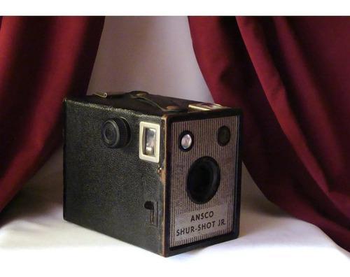 1920´s ansco shur - shot jr. antigua cámara. vintage /