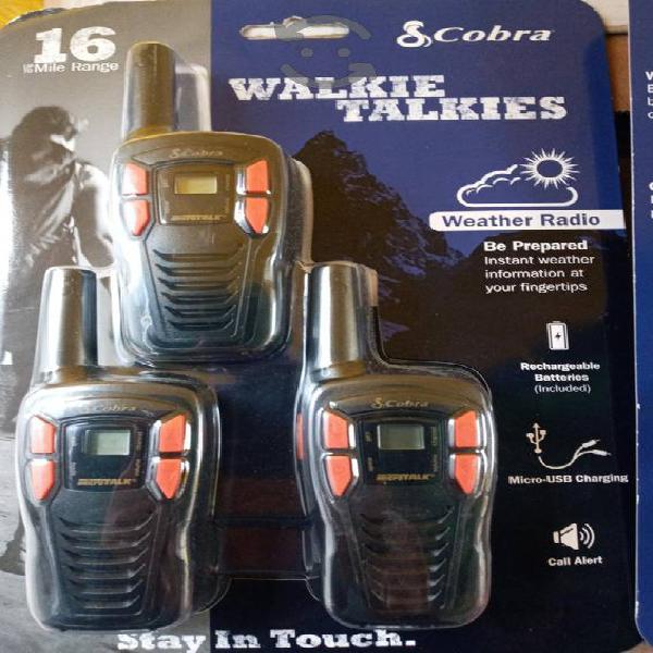 Cobra cxt195 kit 3 radios 25km 22 canales