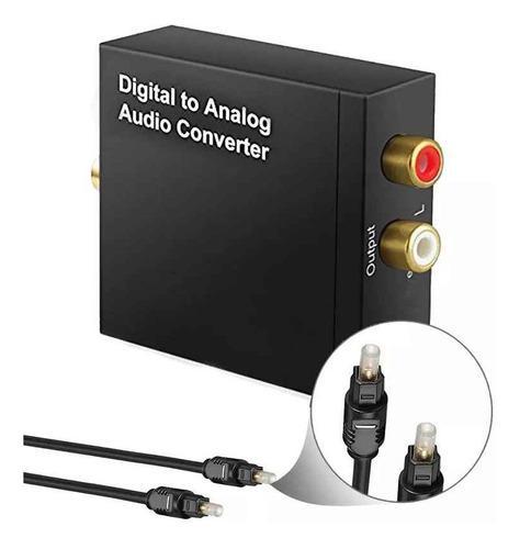 Convertidor de audio optico a analogo, toslink a rca + usb