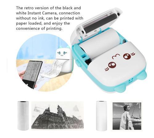 Impresora sin tinta termosensible para fotos, 58 mm, inalám