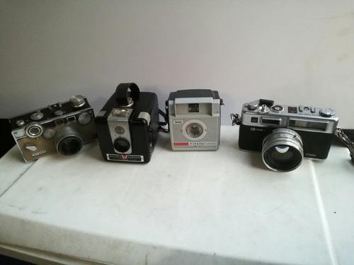 Lote 4 cámaras fotográficas antiguas decoración reparar