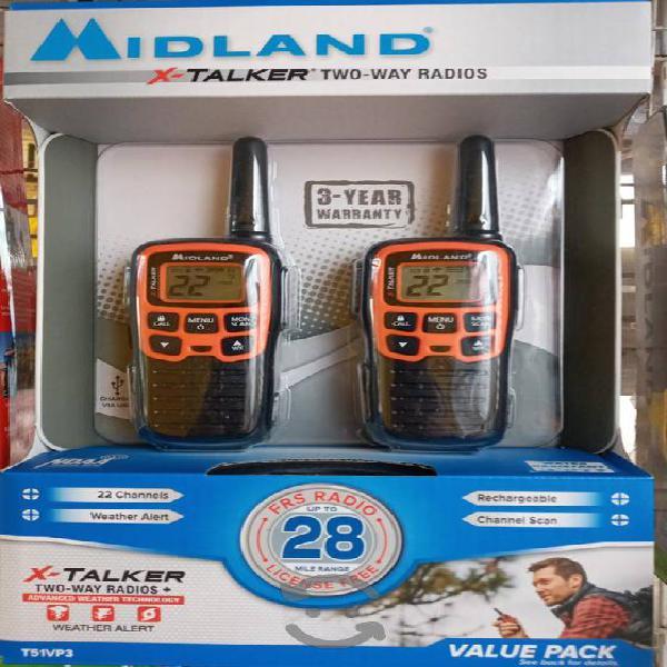 Midland x-talker t51 radios 48km 22 canales