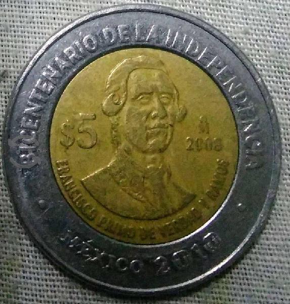 Moneda de colección $ 5 pesos
