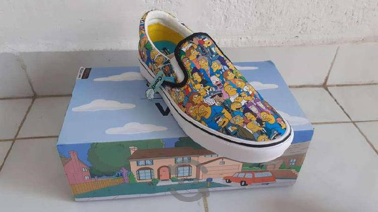 Tennis vans slip on los simpsons springfield