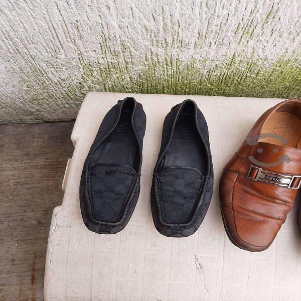 Zapatos hugo boss y gucci