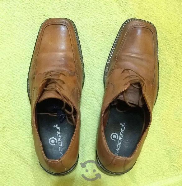 Zapatos moderof.piel,suela cuero.seminuevos! (7.5)