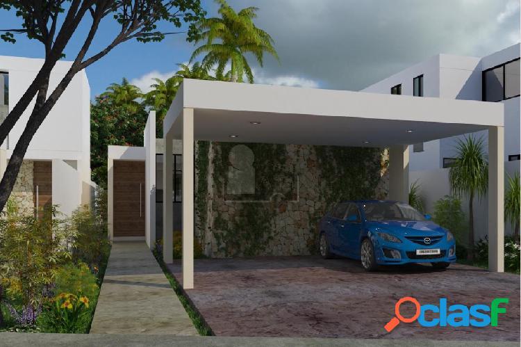 Casa de una planta, 3 recamaras con baño, piscina, en privada, a 8 min de plaza altabrisa.