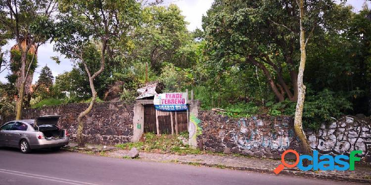 Terreno en venta en jardines del ajusco tlalpan, terreno en venta 497m2 de superficie.