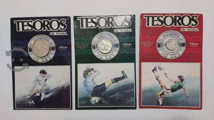 Colección monedas tesoros del mundial méxico 1986