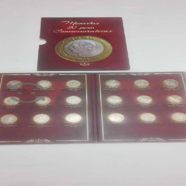 Colección completa 18 monedas de $20 conmemorativa