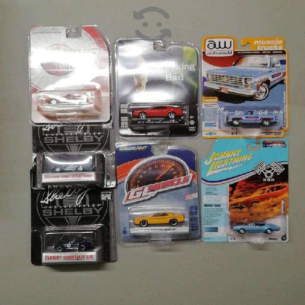 Colección de 7 autos escala 1:64