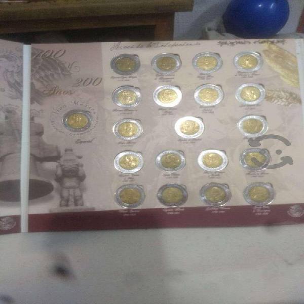 Coleccion monedas 5 pesos centenario bicentenario