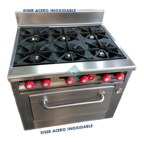 Estufa de 6 quemadores con horno eiser
