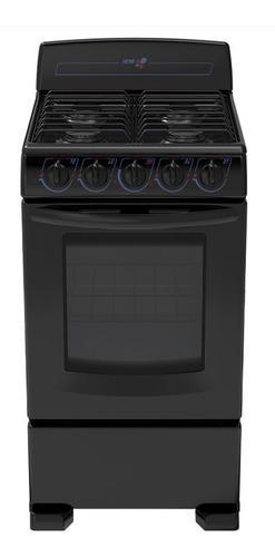 Estufa negra de 4 quemadores iem con horno ei5020bapno nuevo