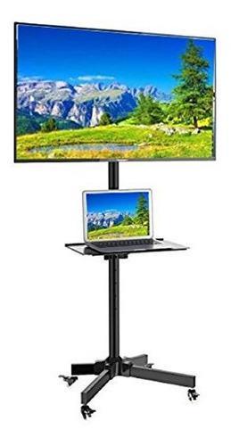 Ezm mobile tv rolling stand para lcd led plasma flat panel c
