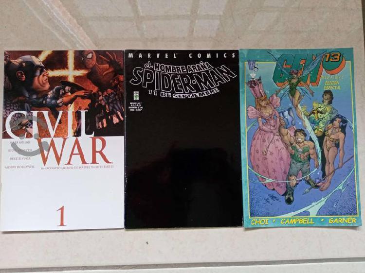 Lote de tres comics coleccionables