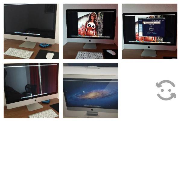 """Mac con pantalla de 27"""" excelente estado"""