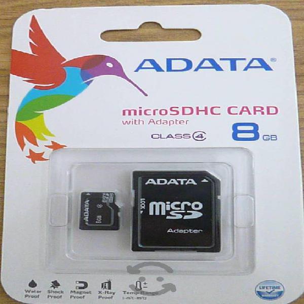 Memoria micro sd adata 8gb clase 4 con adap sd