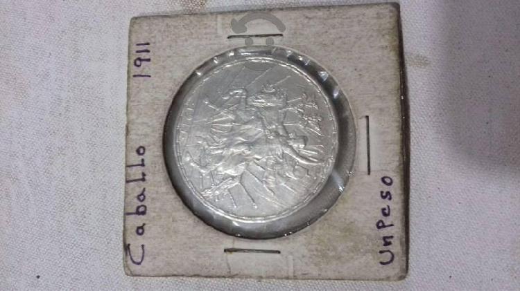 Moneda de 1 peso caballito 1911 de colección