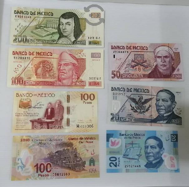 Billetes para colección nuevos