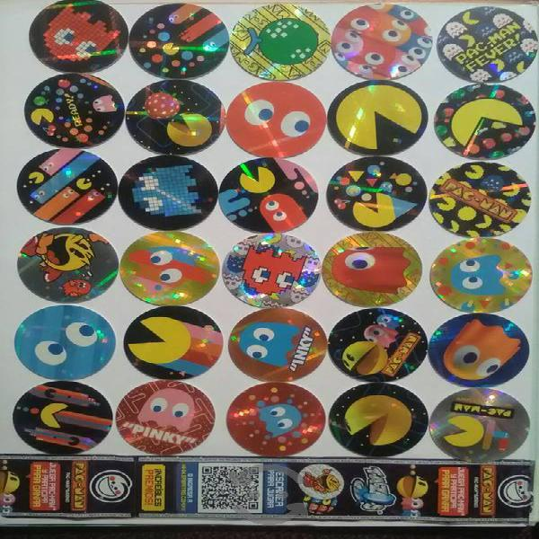 Coleccion completa tazos pac-man + varíantes