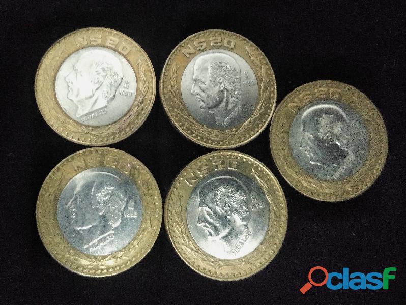 Venta de monedas de nuevos pesos $50 y $20