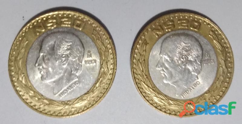 venta de monedas de nuevos pesos $50 y $20 1