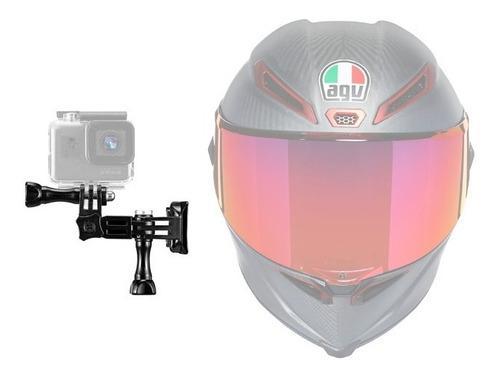 Kit montura lateral gopro para casco moto 3m envio gratis