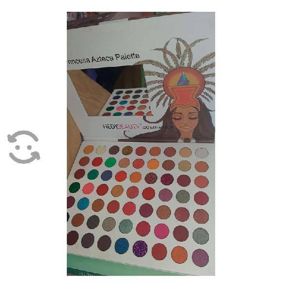 Paleta con 63 sombras princesa azteca palette