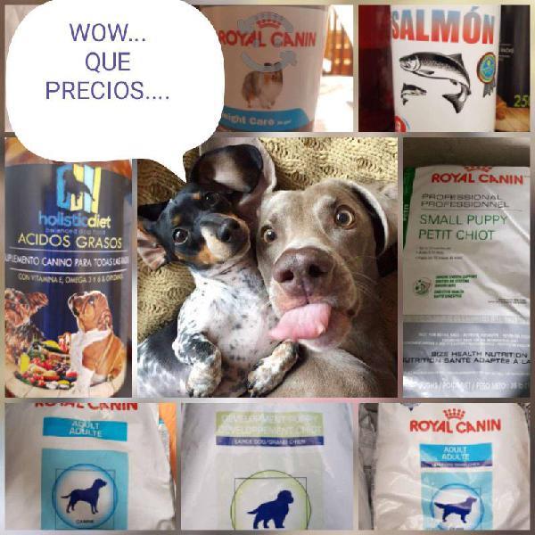 Alimento para tu mascota royal canin y proplan