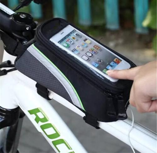 Bolsa porta celular o herramientas para bicicleta