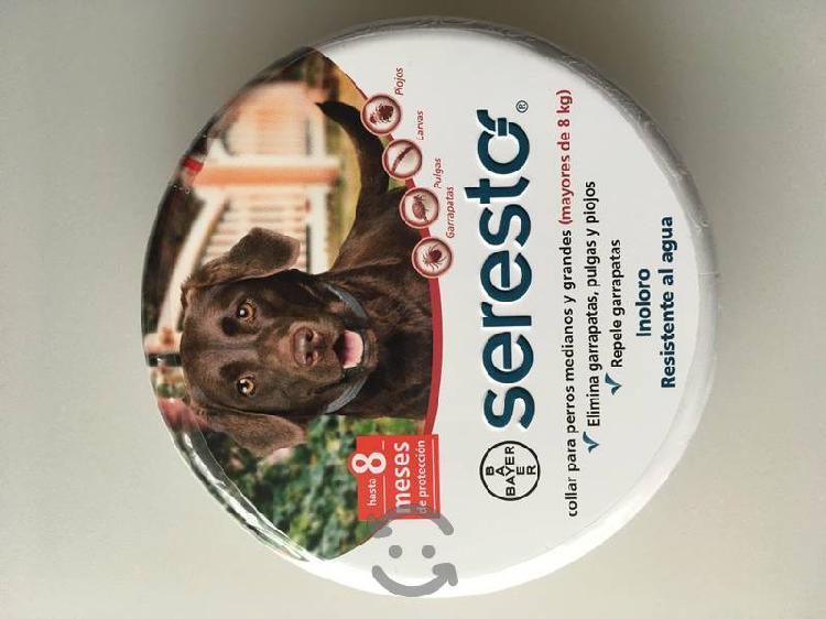 Collar anti pulgas seresto para perros