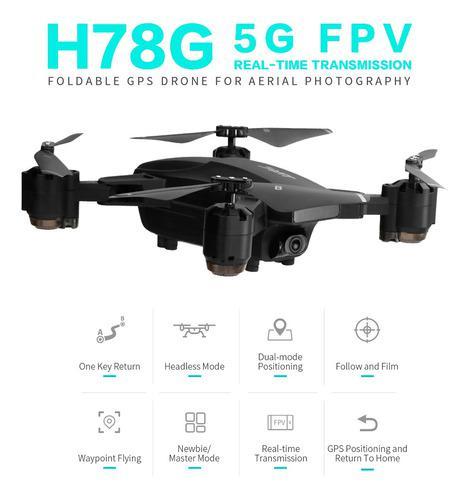 Jjr/c h78g gps drone con cámara 1080p 5g wifi fpv plegable