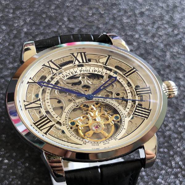 Reloj patek philippe automático skeleton tourbillo