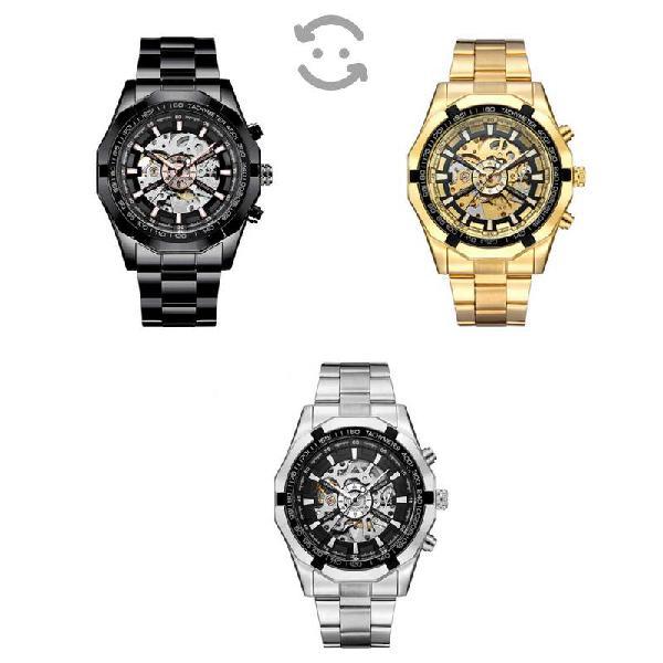 Reloj para hombre, automático, acero inoxidable