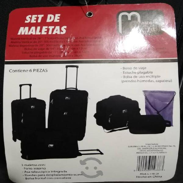 Set de maletas 6 piezas