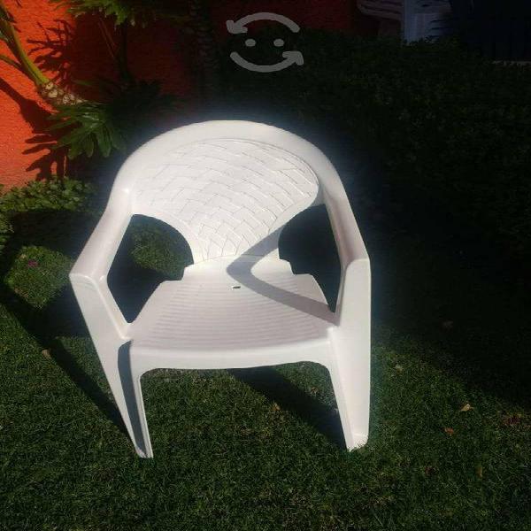 10 sillas de plastico alta resistencia
